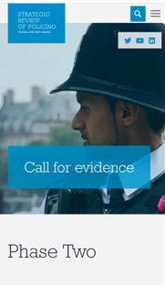 The Strategic Review of Policing - Closing date 5th April