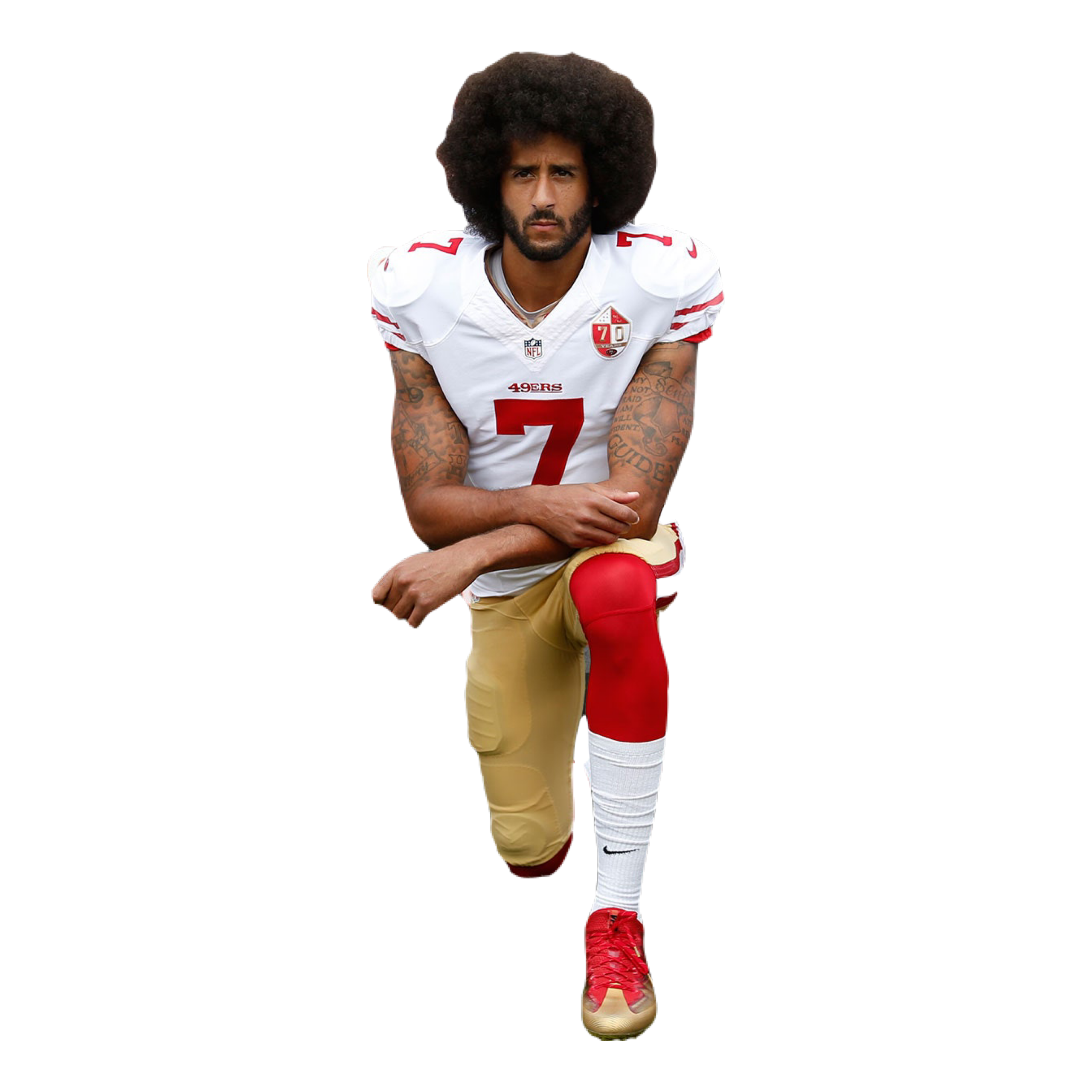 COLIN KAEPERNICK 'MADE A STAND' BY TAKING A KNEE IN 2016