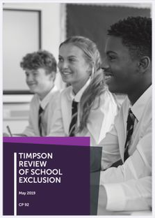 TIMPSON REVIEW OF SCHOOL EXCLUSION